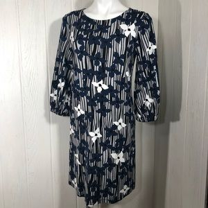 Ann Taylor Factory Knit Dress 3/4 Puffed Sleeve 4